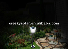 Outdoor Green Tulip Dynamo Led Solar Lamps Post For Graves