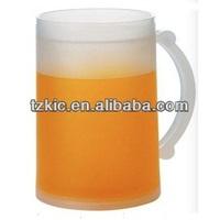 Doulble wall Freezer Beer Mug - Liquid Filled - 16 oz - Blue