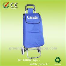 Blue Fashional Portative Shopping Trolley Bag