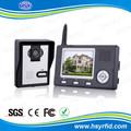 3,5-zoll-lcd- farbe multi Wohnung wireless intercom Video türsprechanlage mit 2,45 ghz Frequenz