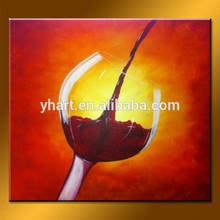 wholesale handpainted modern Dynamic wine glass painting