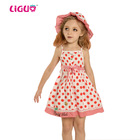 Red dots girls summer kids cotton dress kids fashion dresses pictures