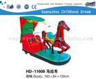 (HD-11608)Horse Cart Coin Operated Fiberglass Electronic Kiddie Rider