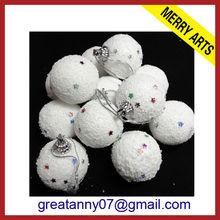 christmas paper ball handmade ceramic christmas ball ornament