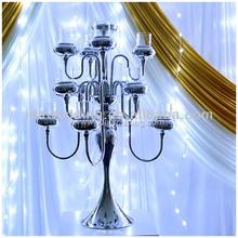 White ostrich feather centerpieces Wedding decoration