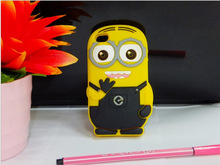Cute minions cell phone case cover for iphone 4 and iphone 5,silicone 3d phone case