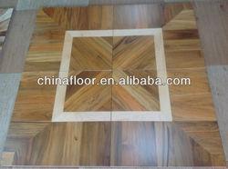 Teak and Maple Lacquered art parquet wood flooring