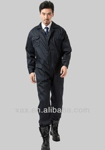 mans work wear, pilot uniforms, black leather overalls for men