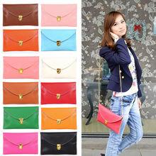 Women Envelope Synthetic Leather Clutch Chain Purse Lady Handbag Tote Shoulder Hand Bag wholesale 14 Colors 13255