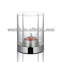Clear Glass Candle Holder / Church Candle Stands