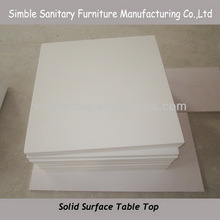 white solid surface table top/artificial stone dining table top /solid surface