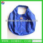 logo print high quality blue fabric shopping bags shopping carrier nylon shopping bag