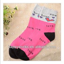 Teen Girls Cotton Socks for Love