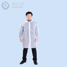 fire retardant custom elastic cuff polypropylene disposable lab coats