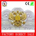 Grande de la exportación emblema doble - con la cabeza descubierta águila oro placa colgante emblema de rusia ( HH-emblem-008 )