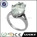 Novo design de jóias fábrica branco marquise anel