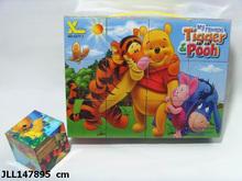 Customized Logo interlocking wooden puzzle wooden brain teaser puzzle wooden ball puzzle