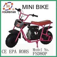 Cheap Fashion 2014 New Patent 2 Wheel With Seat 80cc Mini Bike