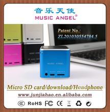 MUSIC ANGEL JH-MD06D MP4 speaker 3.5mm plug mini speaker mothers day gifts cheap