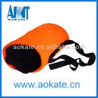 Orange hand warmer muff for winter sports