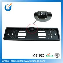 HD waterproof car license plate frame european camera