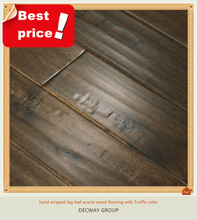 hand scraped Solid antique Acacia wood flooring asia walnut