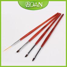 Rosewood Paint Brush Set 4 Pcs/Set Nail UV Pen Kit Bio Sculpture Brush Set