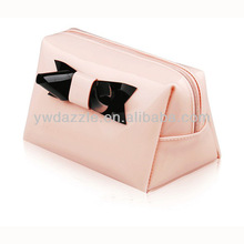 2015 Fashion latest zipper travel vanity hard round cosmetic case for ladies