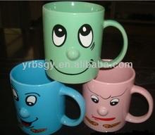 Factory custom funny ceramic nose mug/creative ceramic mug