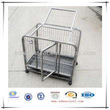 Sliver Foldable Powdered /Galvanized Wire /Tube Dog Crate/ Houses/Pet Cages