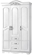 Bedroom wardrobe,luxury white wooden wardrobes,Italian style furniture
