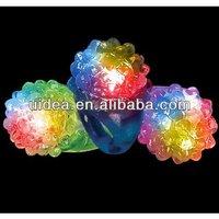 Soft LED Flashing Finger Ring Light/ Soft Rubber LED Light up Ring for Party girls