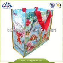Green Promotional folding rolling shopping bag