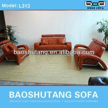 leather sofa latest design sofa sets for living room furniture L313