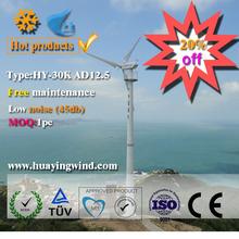 Farm using variable pitch wind generators 30kw Wind turbine