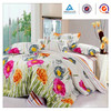 Luxuryl beautiful and printing 100% cotton bed sheets sets fabrics