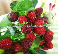 Wholesale lifelike foam artificial fruit,fresh raspberry