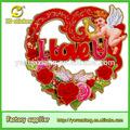 3d glitter papel ângulo champagne coração em forma de coroa de flores para casamento& valentine's day decoração