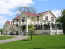 Modern steel frame prefabricated villa Luxury prefabricated villa on sale