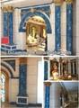 Columnas de piedra de mármol artificial para la decoración