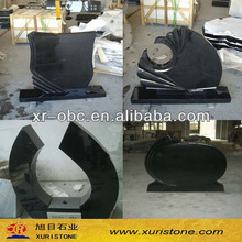 China black granite weeping angel double tombstone pictures