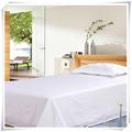 Cheap hotel branco polyseter folha de cama