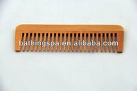 Hot selling natural hair wood comb