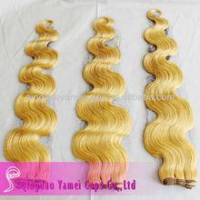Factory price orange blonde body wave cheap hair weft(KY-WEFT-041201)