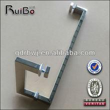 2014 Square polish chrome shower room glass door handles