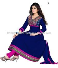 Semi Stitched Anarkali Salwar Suit | latest dress designs