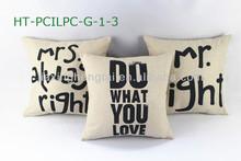 Decorative pillow, sofa cushion,Mr Right Cushion Cover Pillow Case Linen Fabric Digital Print Cushion Cover HT-PCILPC-G-1