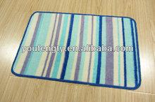 Latex backing washable bath rug