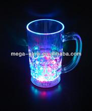 350ML Plastic Led Flashing Beer Mug/Glass by Button