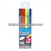 0.4mm 6 colors fine liner pen